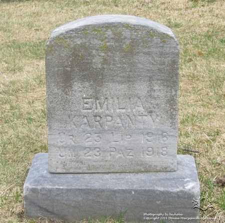 KARPANTY, EMILIA - Lucas County, Ohio | EMILIA KARPANTY - Ohio Gravestone Photos