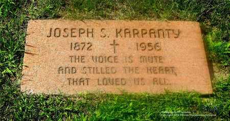 KARPANTY, JOSEPH S. - Lucas County, Ohio | JOSEPH S. KARPANTY - Ohio Gravestone Photos
