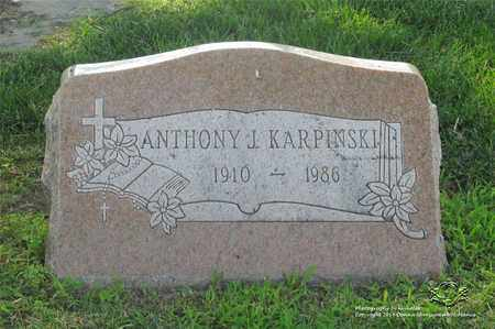 KARPINSKI, ANTHONY J. - Lucas County, Ohio | ANTHONY J. KARPINSKI - Ohio Gravestone Photos