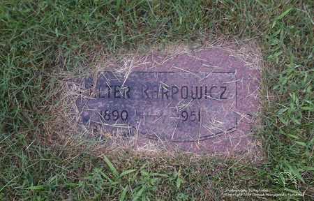 KARPOWICZ, WALTER - Lucas County, Ohio | WALTER KARPOWICZ - Ohio Gravestone Photos