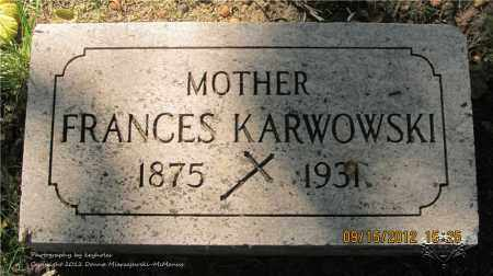 KARWOWSKI, FRANCES - Lucas County, Ohio | FRANCES KARWOWSKI - Ohio Gravestone Photos