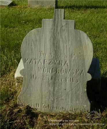 WONGROWSKA, KATARZYNA - Lucas County, Ohio | KATARZYNA WONGROWSKA - Ohio Gravestone Photos