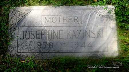 KAZINSKI, JOSEPHINE - Lucas County, Ohio | JOSEPHINE KAZINSKI - Ohio Gravestone Photos