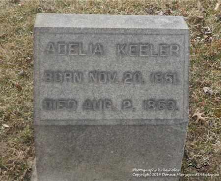 KEELER, ADELIA - Lucas County, Ohio | ADELIA KEELER - Ohio Gravestone Photos