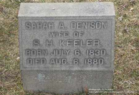 DENISON KEELER, SARAH A. - Lucas County, Ohio | SARAH A. DENISON KEELER - Ohio Gravestone Photos