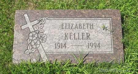 KELLER, ELIZABETH - Lucas County, Ohio | ELIZABETH KELLER - Ohio Gravestone Photos