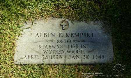 KEMPSKI  (MILITARY STONE), ALBIN F. - Lucas County, Ohio | ALBIN F. KEMPSKI  (MILITARY STONE) - Ohio Gravestone Photos