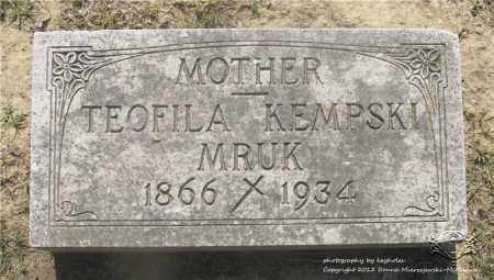 KEMPSKI MRUK, TEOFILA - Lucas County, Ohio | TEOFILA KEMPSKI MRUK - Ohio Gravestone Photos