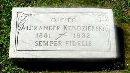 KENDZIERSKI, ALEXANDER - Lucas County, Ohio | ALEXANDER KENDZIERSKI - Ohio Gravestone Photos
