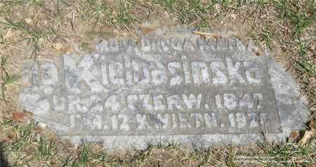 KIELBASINSKA, ANNA - Lucas County, Ohio | ANNA KIELBASINSKA - Ohio Gravestone Photos