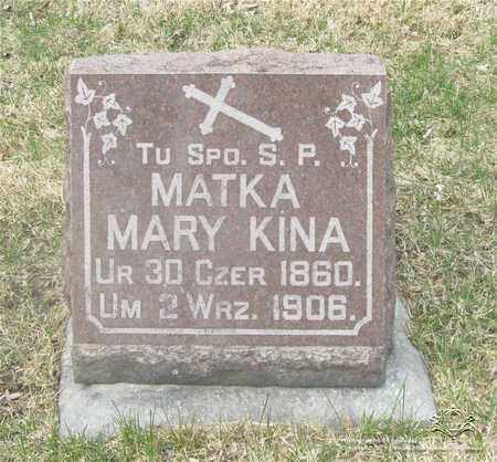 KINA, MARY - Lucas County, Ohio | MARY KINA - Ohio Gravestone Photos