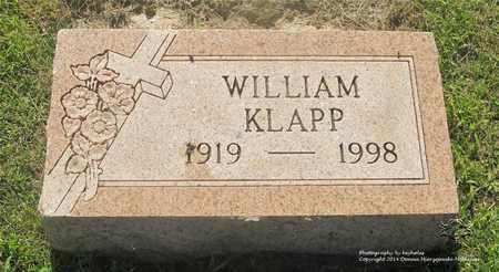 KLAPP, WILLIAM - Lucas County, Ohio | WILLIAM KLAPP - Ohio Gravestone Photos