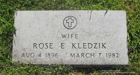 KLEDZIK, ROSE E. - Lucas County, Ohio | ROSE E. KLEDZIK - Ohio Gravestone Photos