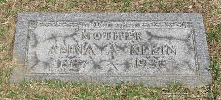 KLEIN, ANNA A. - Lucas County, Ohio | ANNA A. KLEIN - Ohio Gravestone Photos