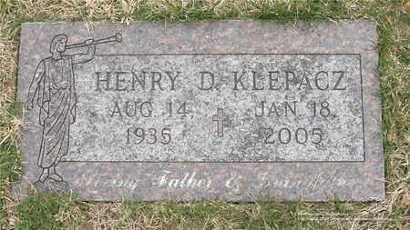 KLEPACZ, HENRY D. - Lucas County, Ohio | HENRY D. KLEPACZ - Ohio Gravestone Photos