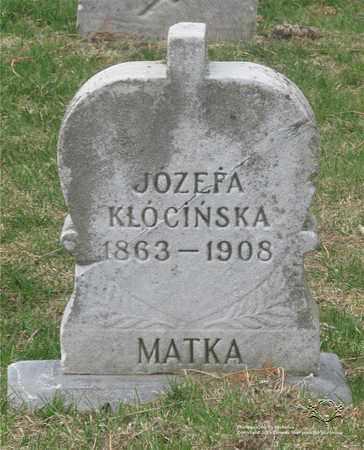 KLOCINSKA, JOZEFA - Lucas County, Ohio | JOZEFA KLOCINSKA - Ohio Gravestone Photos