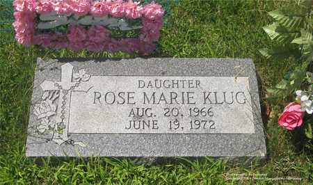 KLUG, ROSE MARIE - Lucas County, Ohio | ROSE MARIE KLUG - Ohio Gravestone Photos