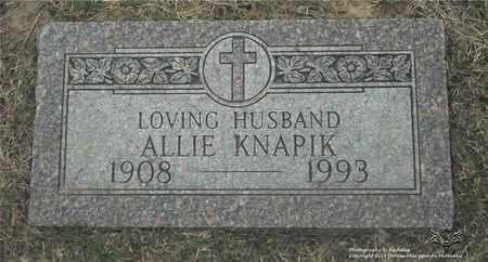 KNAPIK, ALLIE - Lucas County, Ohio | ALLIE KNAPIK - Ohio Gravestone Photos