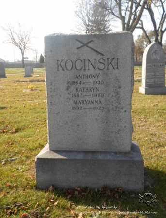 KOCINSKI, MARYANNA - Lucas County, Ohio | MARYANNA KOCINSKI - Ohio Gravestone Photos