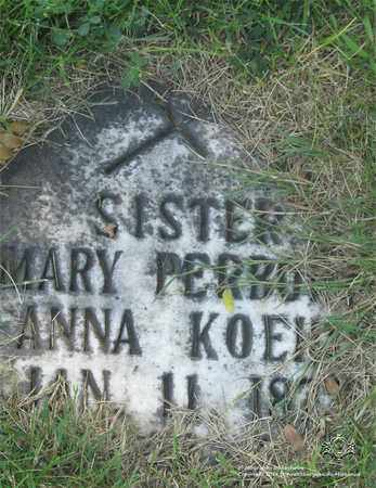 PERBORA, SISTER MARY - Lucas County, Ohio | SISTER MARY PERBORA - Ohio Gravestone Photos