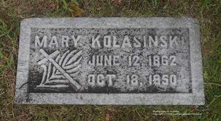 KOLASINSKI, MARY - Lucas County, Ohio | MARY KOLASINSKI - Ohio Gravestone Photos