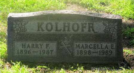 KOLHOFF, MARCELLA E. - Lucas County, Ohio | MARCELLA E. KOLHOFF - Ohio Gravestone Photos