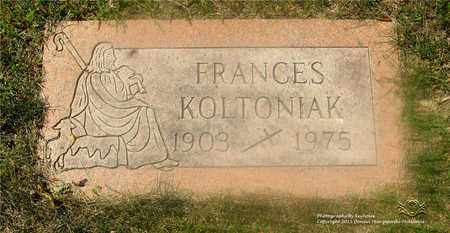 KOLTANIAK, FRANCES - Lucas County, Ohio | FRANCES KOLTANIAK - Ohio Gravestone Photos