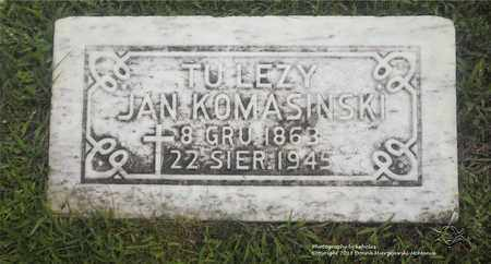KOMASINSKI, JAN - Lucas County, Ohio | JAN KOMASINSKI - Ohio Gravestone Photos