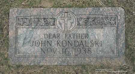 KONDALSKI, JOHN - Lucas County, Ohio | JOHN KONDALSKI - Ohio Gravestone Photos