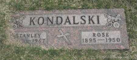 KONDALSKI, ROSE - Lucas County, Ohio | ROSE KONDALSKI - Ohio Gravestone Photos