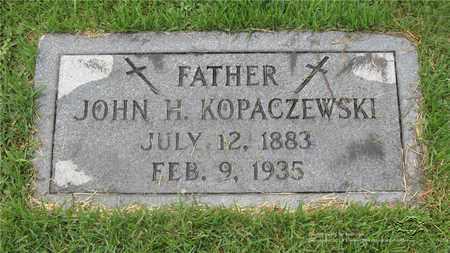 KOPACZEWSKI, JOHN H. - Lucas County, Ohio | JOHN H. KOPACZEWSKI - Ohio Gravestone Photos