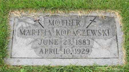 KOPACZEWSKI, MARTHA - Lucas County, Ohio | MARTHA KOPACZEWSKI - Ohio Gravestone Photos