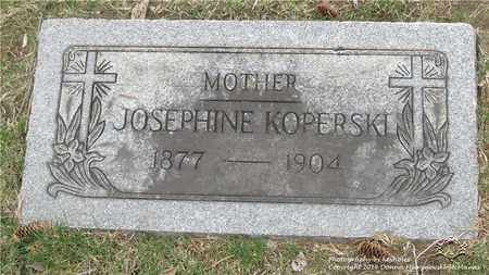 KOPERSKI, JOSEPHINE - Lucas County, Ohio | JOSEPHINE KOPERSKI - Ohio Gravestone Photos