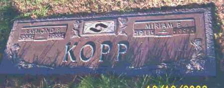 KOPP, MIRIAM E. - Lucas County, Ohio | MIRIAM E. KOPP - Ohio Gravestone Photos