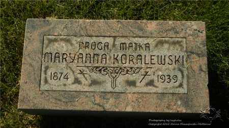 KORALEWSKI, MARYANNA - Lucas County, Ohio | MARYANNA KORALEWSKI - Ohio Gravestone Photos