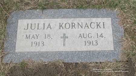 KORNACKI, JULIA - Lucas County, Ohio | JULIA KORNACKI - Ohio Gravestone Photos