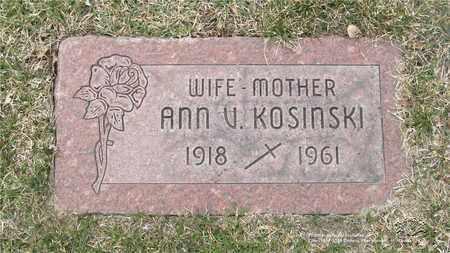KOSINSKI, ANN V. - Lucas County, Ohio | ANN V. KOSINSKI - Ohio Gravestone Photos