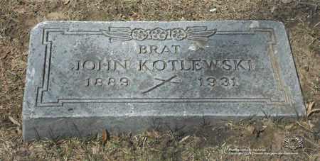 KOTLEWSKI, JOHN - Lucas County, Ohio | JOHN KOTLEWSKI - Ohio Gravestone Photos