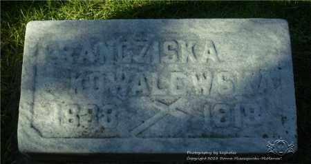 KOWALEWSKI, FRANCZISKA - Lucas County, Ohio | FRANCZISKA KOWALEWSKI - Ohio Gravestone Photos