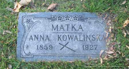 KOWALINSKA, ANNA - Lucas County, Ohio | ANNA KOWALINSKA - Ohio Gravestone Photos