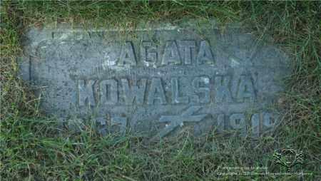 MAJ KOWALSKA, AGATA - Lucas County, Ohio | AGATA MAJ KOWALSKA - Ohio Gravestone Photos