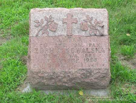KONCZAL KOWALSKA, ZOPHIA - Lucas County, Ohio | ZOPHIA KONCZAL KOWALSKA - Ohio Gravestone Photos