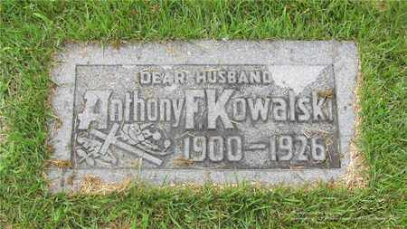KOWALSKI, ANTHONY F. - Lucas County, Ohio | ANTHONY F. KOWALSKI - Ohio Gravestone Photos