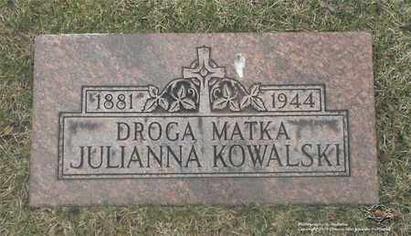 KOWALSKI, JULIANNA - Lucas County, Ohio | JULIANNA KOWALSKI - Ohio Gravestone Photos