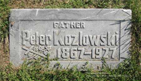 KOZLOWSKI, PETER - Lucas County, Ohio | PETER KOZLOWSKI - Ohio Gravestone Photos