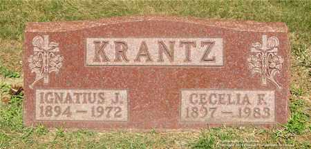 KRANTZ, CECELIA F. - Lucas County, Ohio | CECELIA F. KRANTZ - Ohio Gravestone Photos