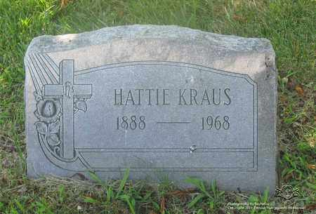 KRAUS, HATTIE - Lucas County, Ohio | HATTIE KRAUS - Ohio Gravestone Photos