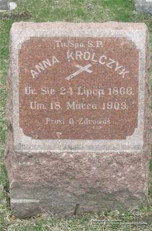 KRULCZYK, ANNA - Lucas County, Ohio | ANNA KRULCZYK - Ohio Gravestone Photos