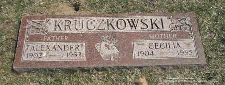 KRUCZKOWSKI, CECILIA - Lucas County, Ohio | CECILIA KRUCZKOWSKI - Ohio Gravestone Photos