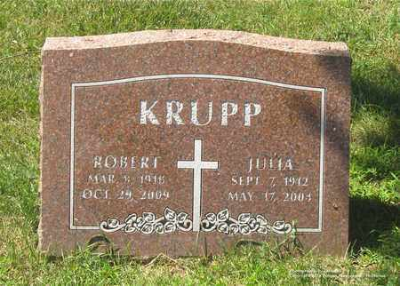 KRUPP, ROBERT - Lucas County, Ohio | ROBERT KRUPP - Ohio Gravestone Photos